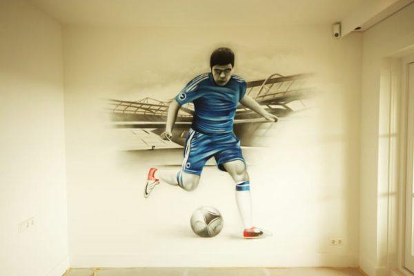 graffiti-voetballer